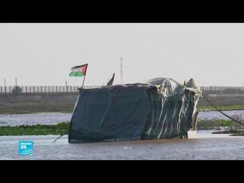 غزة..إسرائيل تفتح السدود وتغرق أراضي المزارعين الفلسطينيين بالمياه  - 13:01-2020 / 1 / 16