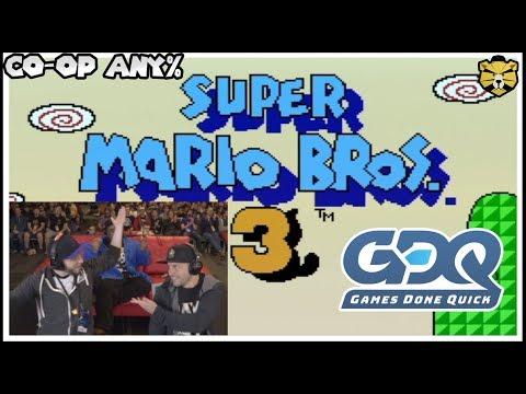 GDQx SMB3 Any% Warpless Co-op With MitchFlowerPower!