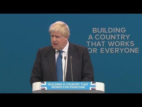 Boris Johnson urges post-Brexit Britain to 'let the lion roar'