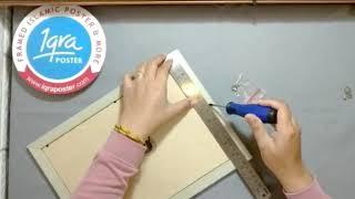 Pigura & Kaligrafi Kufi - Allah Muhammad Ayat Kursi 6E - Hiasan Dinding Bingkai