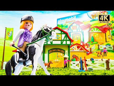 Playmobil Country Horse Farm 6926 Toy Unboxing   Build a Horse Farm