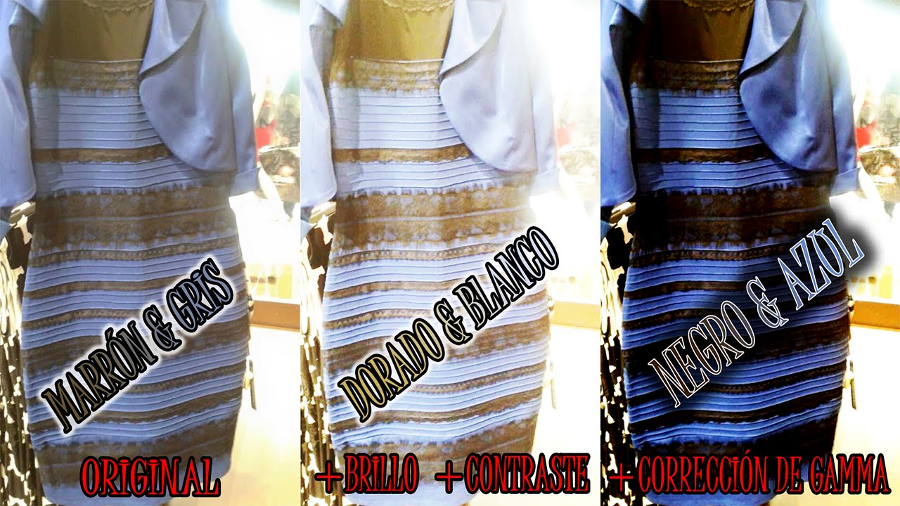 Photoshop Da Respuesta Al Misterio Del Vestido Blanco Y Dorado O Azul Y Negro