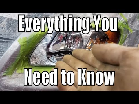 """How to Restore Headlights PERMANENTLY """"Do Not Use Clear Coat"""""""