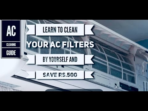 AC filter cleaning in tamil | Simple cleaning tips in 5 mins | with English subtitles