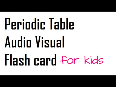 The elements of the periodic table audio visual flash card youtube the elements of the periodic table audio visual flash card urtaz Image collections