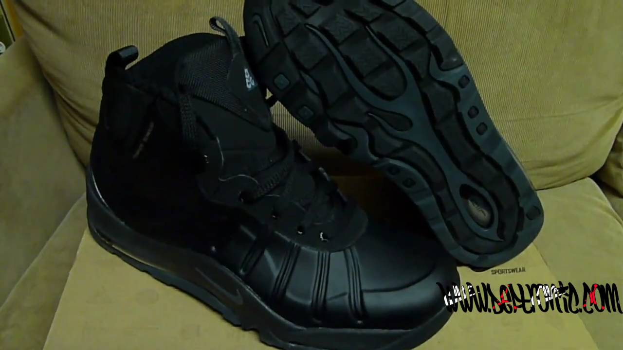 f25d92780dd Deftronic.Com HD - Nike Air Max Posite Bakin Boot (Black) - YouTube
