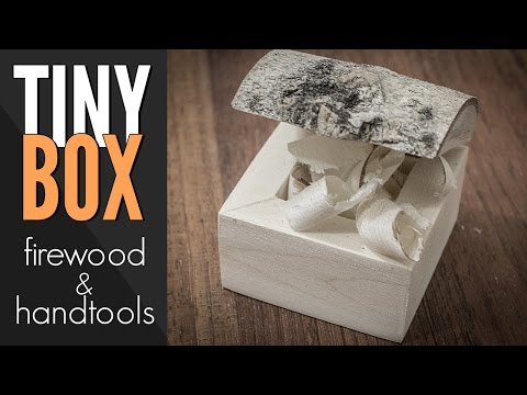 Wooden Box Made From Firewood – No Power Tools
