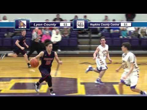 Hopkins County Central boys basketball vs Lyon County 1/12/16 highlights