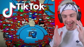 reacting to among us tik toks and trying not to laugh... (very funny)