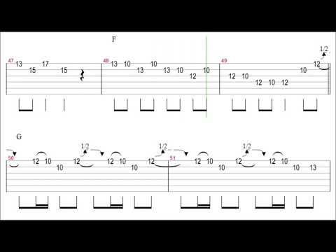 Eagles - Get Over It Guitar Solo Tab+BackingTrack mp3