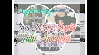 Cara Edit Garis Negatif Ala Awkarin Di Foto [PicsArt]
