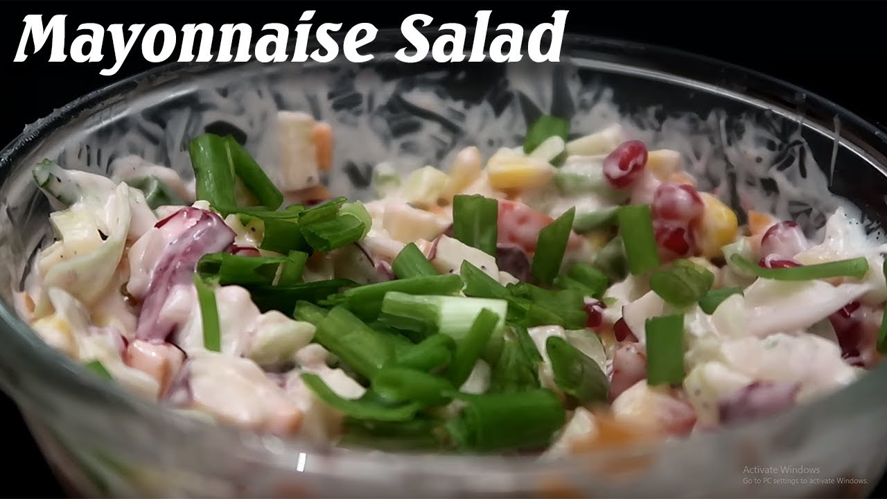 How make best veg mayonnaise salad in 5 minutes recipes youtube how make best veg mayonnaise salad in 5 minutes recipes food land india forumfinder Images