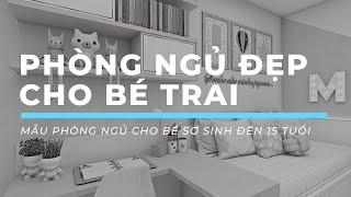 Phòng ngủ đẹp cho bé trai: 30+ thiết kế phòng ngủ đẹp cho bé trai mới lớn từ sơ sinh đến 15 tuổi