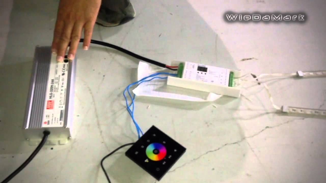 How To Setup Control 20 Meters Of Rgb Strip Light Youtube Dmx Led Controller Wiring Diagram