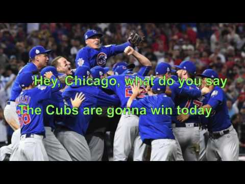 """Go Cubs Go"" with Lyrics"