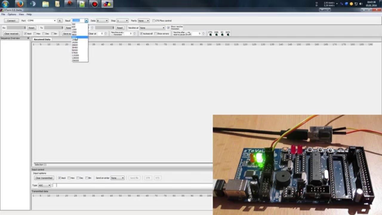 UART Tutorial / Einzelne Zeichen - Mikrocontroller programmieren in C - AVR  C Tutorial - Part 7