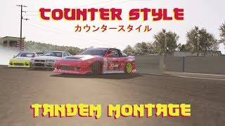 Counter Style Tandem montage, Assetto Corsa drifting