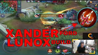 XANDER FORD LUNOX BUILD ! - MOBILE LEGENDS - 1000 DIAMONDS GIVEAWAY - LUNOX GAMEPLAY