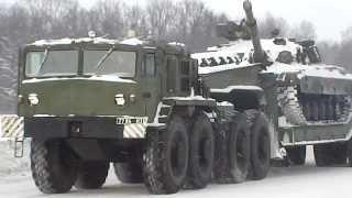 Возвращение танков из Чернигова в в/ч А-1815 Гончаровска.(23.01.2014 года около 12.00 на ж/д станции «Чернигов -- Северный» все танки были благополучно погружены на автоплат..., 2014-01-23T18:19:56.000Z)