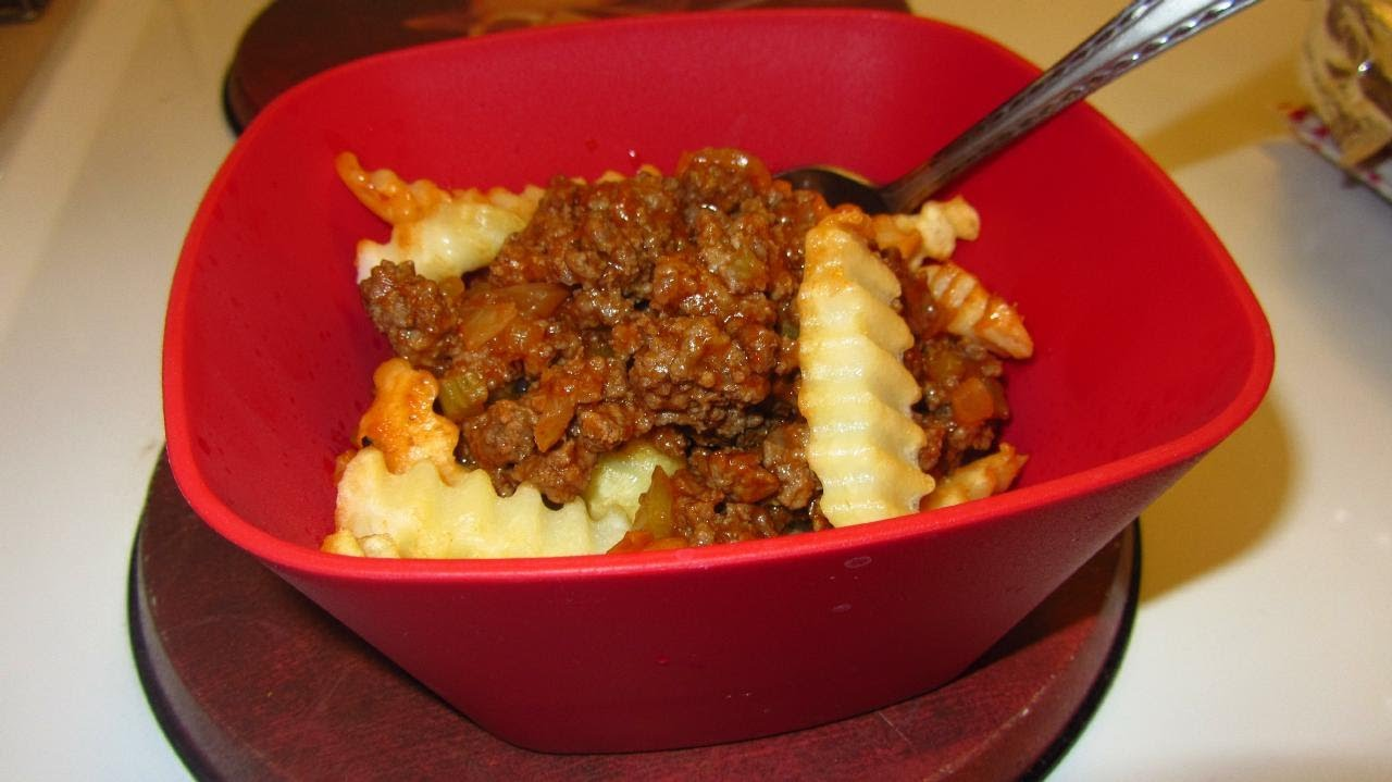 Hamburger Pie With French Fry Crust