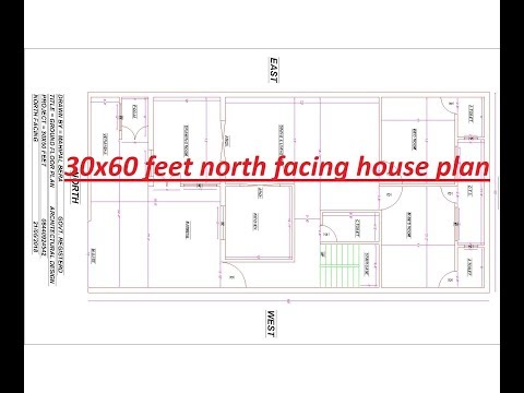 64be1ffc5 30x60 feet north facing house plan | 3 BHK house design parking with ...