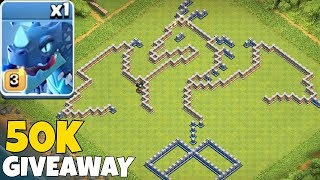 "ELECTRIC DRAGON BASE!! ""Clash Of Clans"" 50K GEM GIVEAWAY!!"