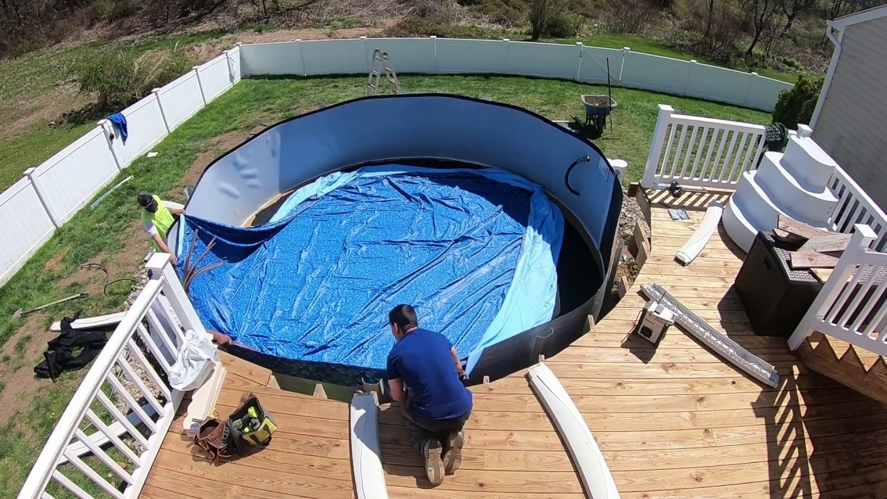 How to Install Above Ground Salt Water Pool pt.2