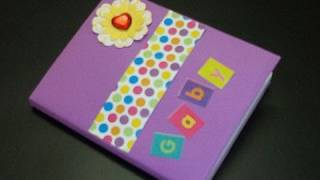 How to decorate your notebook scrapbook style - EP - simplekidscrafts - simplekidscrafts