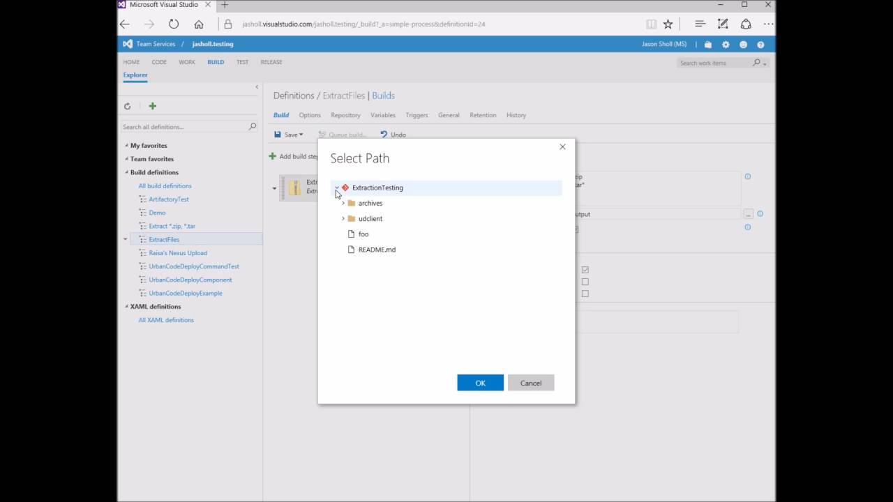 A New Team Services build task to easily extract files | Azure