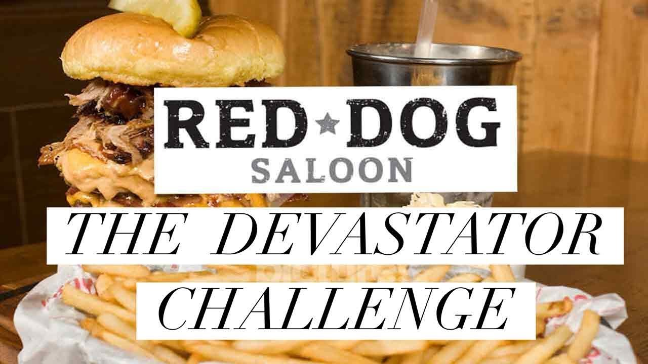 Burger Challenge Red Dog Saloon Devastator Challenge