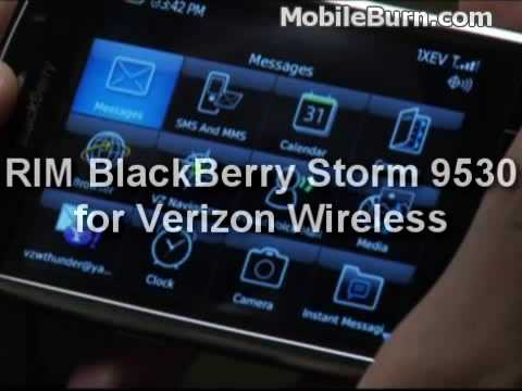 RIM BlackBerry Storm 9530 For Verizon Demo