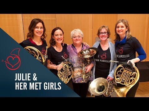 Julie Landsman and her Met Girls live on Sarah´s Horn Hangouts