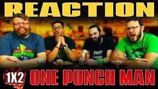 """One Punch Man 1x2 REACTION!! """"The Lone Cyborg"""""""