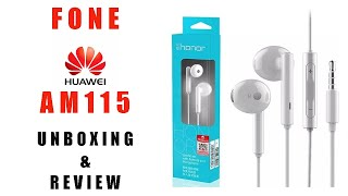 Fone HUAWEI AM115 (Unboxing & Review - BR)