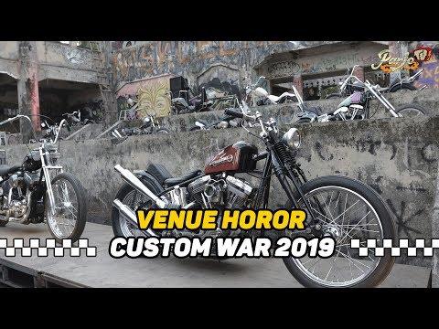 PAMER MOTOR MOBIL DI TEMPAT HOROR (NK 13 CUSTOM WAR 2019) #BALI