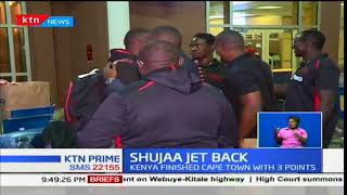 The National rugby team, Shujaa Sevens jets back to the country