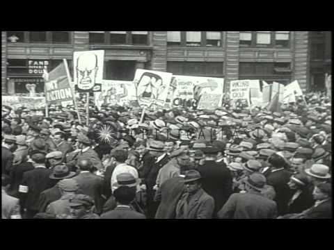 Communist Party May Day parade in New York City HD Stock Footage