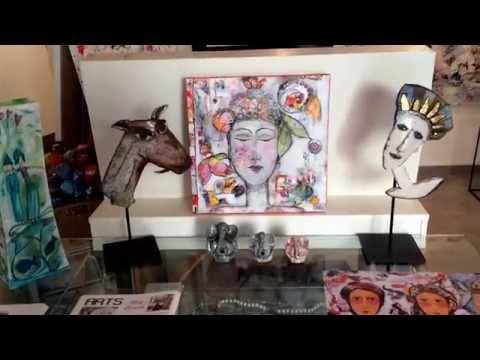 Mary Larsson-Shakti. Gallery St Tropez Art Studio,St Tropez