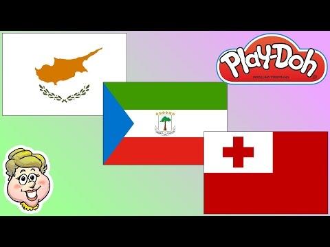 Play-Doh Flags! Cyprus, Equatorial Guinea, and Tonga! EWMJ #320