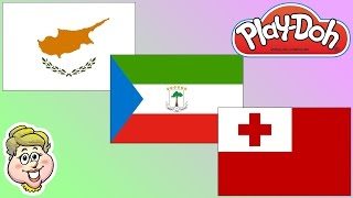 Play-Doh Flags! Cyprus, Equatorial Guinea, and Tonga! EWMJ #320