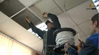 Монтаж обогревателей в подвесные потолки Армстронг(Установка инфракрасных потолочных обогревателей ФлексиХИТ в потолки типа