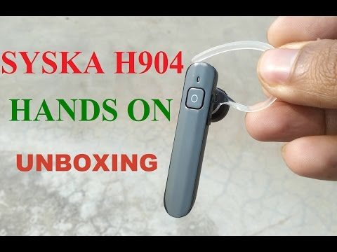 e77a35ee72c Syska H904 bluetooth headset unboxing review - YouTube