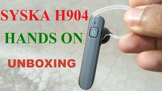 Syska H904 bluetooth headset unboxing review