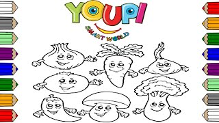 Coloring Vegetables For Kids! Toddlers Learn Colors :) Fun Educational Video for Children :)