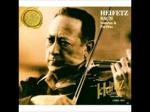Jasha Heifetz Bach Partita E major Preludio