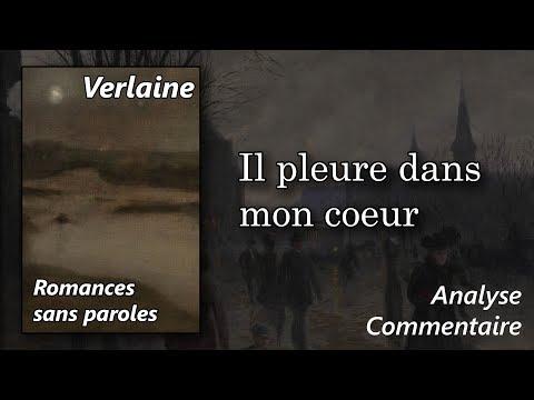 Paul Verlaine, Romances sans paroles - Il pleure dans mon coeur (commentaire analyse littéraire)