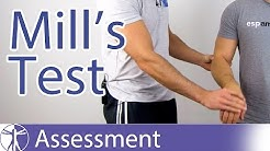Mill's Test⎟Lateral Epicondylitis or Tennis Elbow