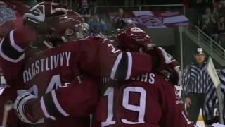 pyotr schastlivy adds the puck to the net
