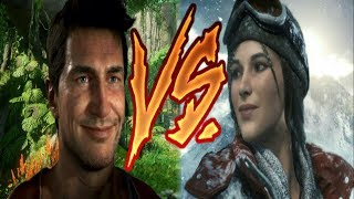 Is Tomb Raider BETTER?!?  Uncharted Vs. Tomb Raider Part 1!  WHO WILL WIN??