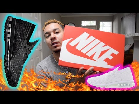 Nike Air Max Flair 2017 Triple Black AND Triple White Review And Unboxing